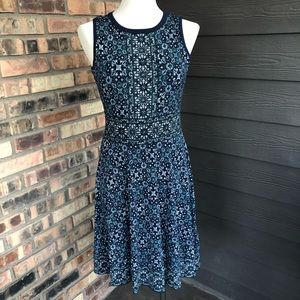 Michael Kors navy pattern dress size S NWT MSRP 98
